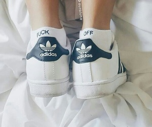 adidas, shoes, and fuck off image