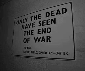 war, dead, and quotes image