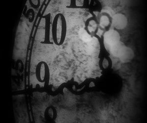 black, clock, and black and white image