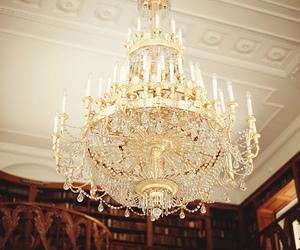 chandelier, vintage, and light image