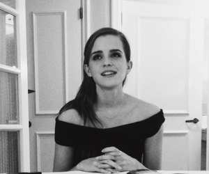 emma watson, black and white, and harry potter image