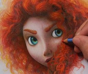 disney, drawing, and art image