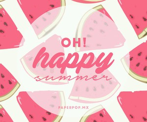 summer, watermelon, and wallpaper image