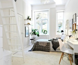 bedroom, house, and white image
