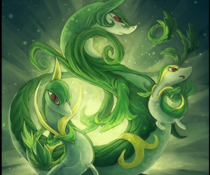 pokemon, snivy, and serperior image