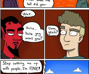 funny, gay, and hell image