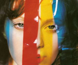 Karen Elson, blue, and red image