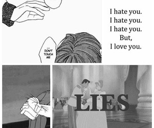 bitch, hate, and lies image