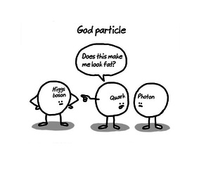 boson, god, and joke image