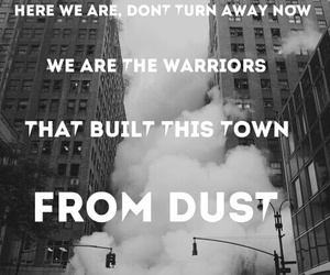 warrior, imagine dragons, and dust image