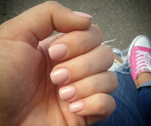 converse, manicure, and nails image