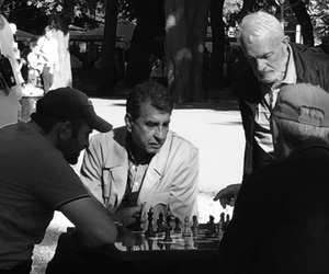 black, chess, and people image