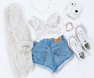 outfit, coachella, and converse image
