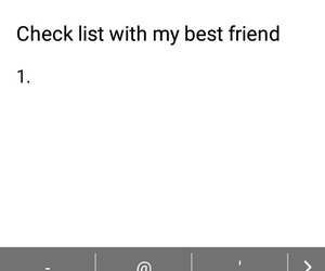 Best, check list, and friends image