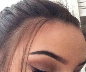 eyebrows, makeup, and hair image