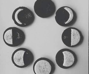 oreo, moon, and Cookies image