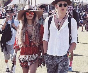 coachella, couple, and vanessa hudgens image