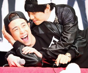 kyung, p.o, and block b image