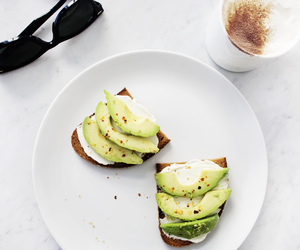 avocado, food, and sunglasses image