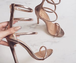 heels, shoes, and gold image