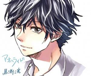 ao haru ride, mabuchi kou, and anime boy image