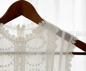 lace, white, and clothes image