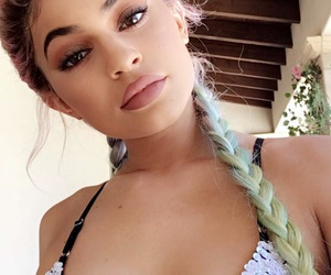 colorful, makeup, and kylie jenner image