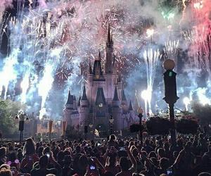 disneyland and fireworks image