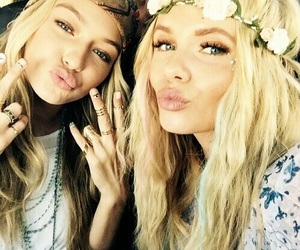 gigi hadid, alli simpson, and coachella image