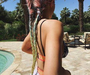 braids, colours, and kylie jenner image
