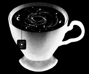 tea, cup, and stars image