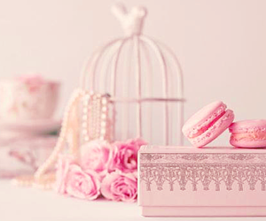 macaroons, pastel, and pearls image