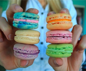 food, ‎macarons, and tumblr image