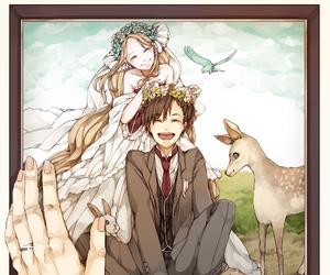 anime, wedding, and animal image