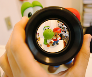 fish eye, photography, and lens image
