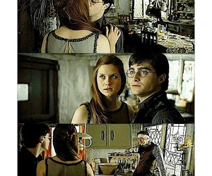 ginny weasley, harry potter, and george weasley image