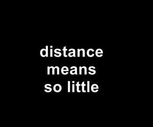 distance, quotes, and black image