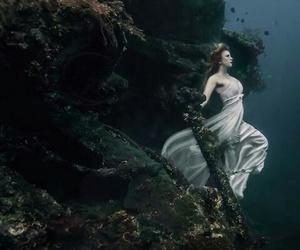 underwater, mermaid, and water image