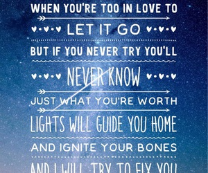 coldplay, Lyrics, and quote image