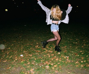 girl, grunge, and night image