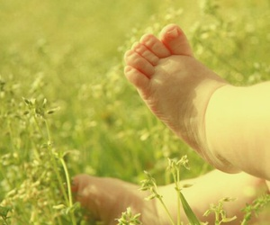 baby, feet, and spring image
