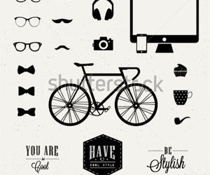 glass, hipster, and moño image