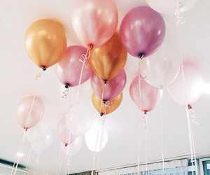 aesthetic, colors, and balloons image