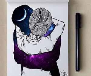 love, art, and drawing image