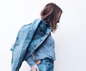 blogger, denim, and lookbook image