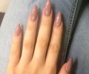 nails, Nude, and pink image