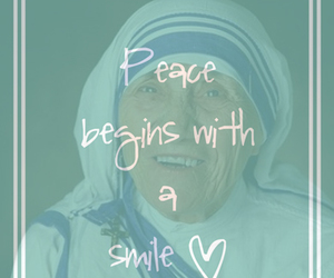 mother teresa, peace, and quotes image