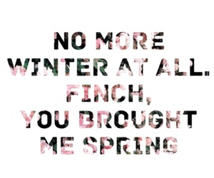finch, quote, and spring image