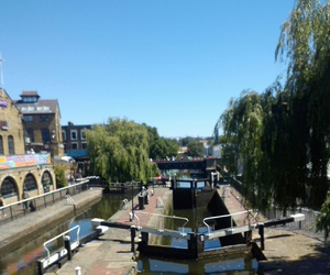 camden lock, canal, and london image