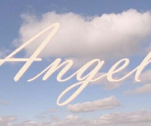 angel, clouds, and sky image